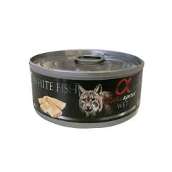 Alpha Spirit-Feline Adult Poisson Blanc 85 Gr Humide. (1)