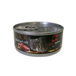Alpha Spirit-Feline Adult Canard et Kiwi 85 Gr Humide. (1)