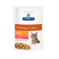 Hills Prescription Diet-PD Feline k/d avec Saumon 85gr (1)