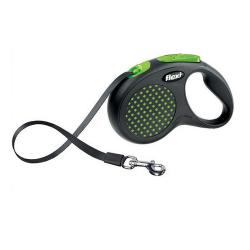 Flexi-Laisse Extensible Flexi Design Vert pour Chien (1)