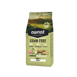 Ownat Grain Free Prime-Adult Chicken & Turkey para gato (1)