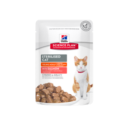 Hills-SP Feline Young Sterilised avec Saumon (Sachet) (1)