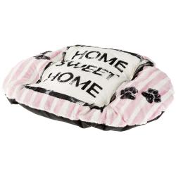 Cama Relax perro y gato Cushion Dove Grey Pink Ferplast