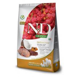 Farmina ND Dog Quinoa Grain free Skin Coat Codorniz pienso para perros