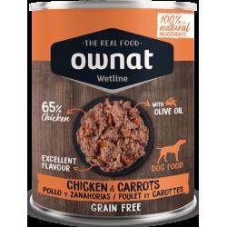Ownat Wetline comida húmeda para perros chicken & carrots