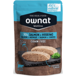 Ownat Wetline comida húmeda para gatos salmon & herring