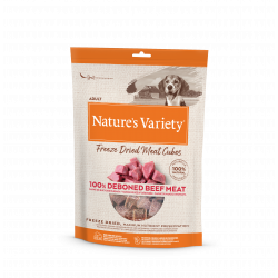 Nature's Variety Freeze Dried Meat Cubes Buey Snacks para perros